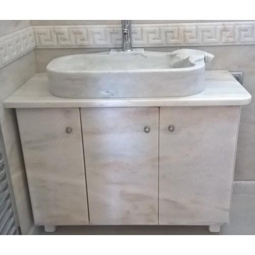 Νιπτήρας με έπιπλο μπάνιου